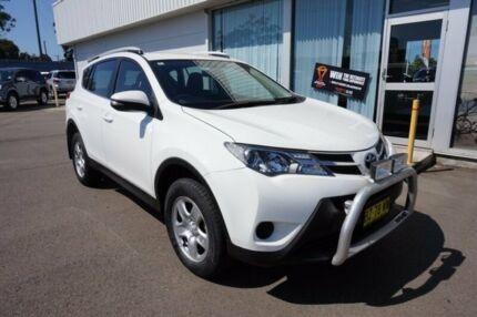 2014 Toyota RAV4 ASA44R MY14 GX AWD Glacier White 6 Speed Sports Automatic Wagon