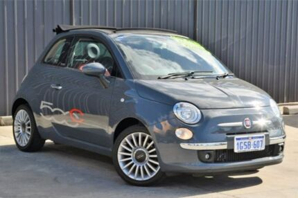 2013 Fiat 500C Series 1 Lounge Dualogic Grey 5 Speed Sports Automatic Single Clutch Convertible Midvale Mundaring Area Preview