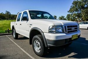 2005 Ford Courier PH GL (4x4) White 5 Speed Manual Crewcab Wetherill Park Fairfield Area Preview