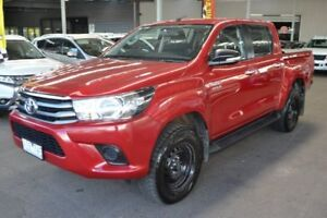 2016 Toyota Hilux GUN136R SR Double Cab Hi-Rider Red 6 Speed Sports Automatic Utility