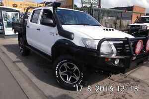 2013 Toyota Hilux White Automatic Cab Chassis Fawkner Moreland Area Preview