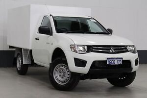 2012 Mitsubishi Triton MN MY12 GLX White 5 Speed Manual Cab Chassis Bentley Canning Area Preview