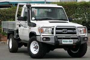 2011 Toyota Landcruiser VDJ79R MY10 Workmate White 5 Speed Manual Cab Chassis Acacia Ridge Brisbane South West Preview