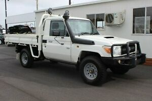 2013 Toyota Landcruiser VDJ79R MY13 Workmate White 5 Speed Manual Cab Chassis Devonport Devonport Area Preview
