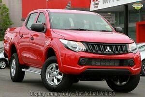 2016 Mitsubishi Triton MQ MY16 GLX+ Double Cab Red 5 Speed Sports Automatic Utility Springwood Logan Area Preview