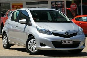 2012 Toyota Yaris NCP130R YR Silver Pearl 5 Speed Manual Hatchback Woolloongabba Brisbane South West Preview
