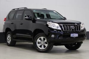 2011 Toyota Landcruiser Prado GRJ150R 11 Upgrade GXL (4x4) Black 5 Speed Sequential Auto Wagon Bentley Canning Area Preview
