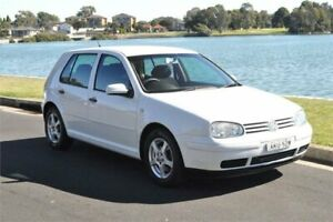 2001 Volkswagen Golf GLE White 4 Speed Automatic Hatchback Five Dock Canada Bay Area Preview