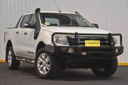 2014 Ford Ranger PX Wildtrak Double Cab White 6 Speed Sports Automatic Utility Hendra Brisbane North East Preview