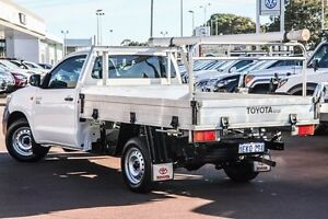 2013 Toyota Hilux TGN16R MY12 Workmate White 5 Speed Manual Cab Chassis Wilson Canning Area Preview