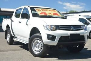 2010 Mitsubishi Triton MN MY10 GLX Double Cab White 4 Speed Automatic Utility Hillcrest Port Adelaide Area Preview