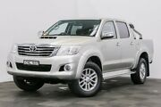 2013 Toyota Hilux KUN26R MY12 SR5 Double Cab Silver 4 Speed Automatic Utility Seven Hills Blacktown Area Preview