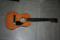 kids size classic wooden guitar