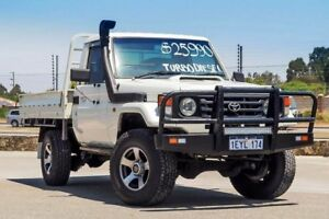 2002 Toyota Landcruiser HZJ79R White 5 Speed Manual Cab Chassis Kenwick Gosnells Area Preview
