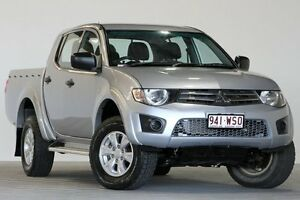 2013 Mitsubishi Triton MN MY14 GLX (4x4) Silver 4 Speed Automatic 4x4 Dual Cab Utility Coopers Plains Brisbane South West Preview