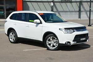 2014 Mitsubishi Outlander ZJ MY14.5 LS 4WD White 6 Speed Sports Automatic Wagon Broadmeadow Newcastle Area Preview
