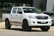 2014 Toyota Hilux KUN26R MY14 SR Double Cab White 5 Speed Automatic Utility Moorooka Brisbane South West Preview