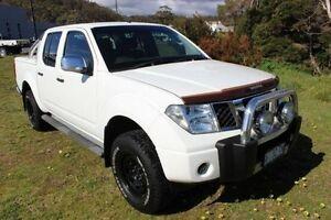 2009 Nissan Navara D40 ST-X White 6 Speed Manual Utility Burnie Burnie Area Preview