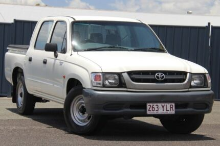 2004 Toyota Hilux LN147R MY02 4x2 White 5 Speed Manual Utility Slacks Creek Logan Area Preview
