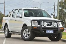 2007 Nissan Navara D40 ST-X (4x4) White 6 Speed Manual Dual Cab Midland Swan Area Preview