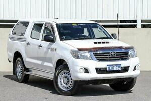2015 Toyota Hilux KUN26R MY14 SR (4x4) White 5 Speed Automatic Dual Cab Pick-up Cannington Canning Area Preview