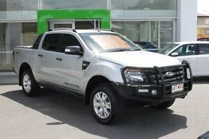 2014 Ford Ranger PX Wildtrak Double Cab Silver 6 Speed Sports Automatic Utility Mount Gravatt Brisbane South East Preview
