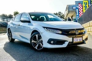 2019 Honda Civic 10th Gen MY18 RS White Constant Variable Sedan Wangara Wanneroo Area Preview