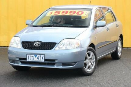 2002 Toyota Corolla ZZE122R Ascent Blue 5 Speed Manual Hatchback Heatherton Kingston Area Preview