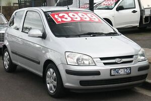 2005 Hyundai Getz TB Upgrade 1.4 Silver 4 Speed Automatic Hatchback Briar Hill Banyule Area Preview