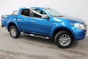 2015 Mitsubishi Triton MQ MY16 GLS Double Cab Blue 5 Speed Sports Automatic Utility Burnie Area Preview