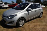 2013 Hyundai i20 PB MY14 Active Silver 4 Speed Automatic Hatchback Burnie Area Preview