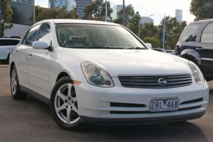 2001 Nissan Skyline HV35 300GT White 5 Speed Sports Automatic Sedan Docklands Melbourne City Preview