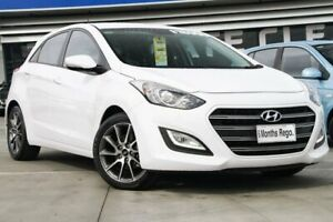 2015 Hyundai i30 GD3 Series II MY16 Elite White 6 Speed Sports Automatic Hatchback