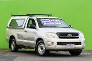 2010 Toyota Hilux GGN15R MY10 SR Silver 5 Speed Manual Utility Ringwood East Maroondah Area Preview