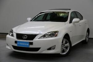2007 Lexus IS250 GSE20R Prestige White 6 Speed Sports Automatic Sedan
