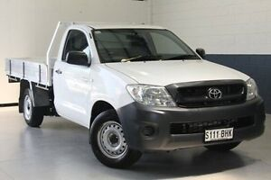 2011 Toyota Hilux TGN16R MY12 Workmate White 5 Speed Manual Cab Chassis Hillcrest Port Adelaide Area Preview