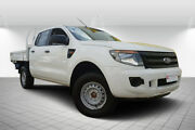 2013 Ford Ranger PX XL Double Cab White 6 Speed Sports Automatic Cab Chassis Svensson Heights Bundaberg City Preview