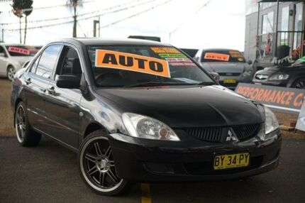 2004 Mitsubishi Lancer CH ES Black 4 Speed Automatic Sedan Homebush West Strathfield Area Preview