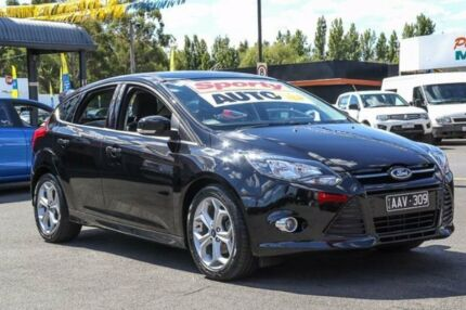 2013 Ford Focus LW MKII Sport PwrShift Black 6 Speed Sports Automatic Dual Clutch Hatchback Ringwood East Maroondah Area Preview