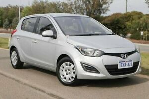 2014 Hyundai i20 PB MY14 Active Sleek Silver 4 Speed Automatic Hatchback Clarkson Wanneroo Area Preview