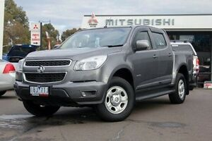 2014 Holden Colorado RG MY14 LX Crew Cab Grey 6 Speed Sports Automatic Utility Nunawading Whitehorse Area Preview