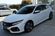 2017 Honda Civic 10th Gen MY17 VTi-L White 1 Speed Constant Variable Hatchback Belconnen Belconnen Area Preview