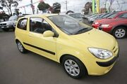 2007 Hyundai Getz TB MY07 SX Yellow 4 Speed Automatic Hatchback Kingsville Maribyrnong Area Preview