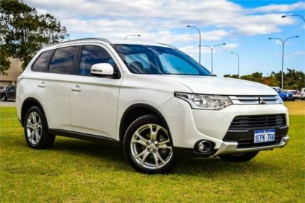 2014 Mitsubishi Outlander ZJ MY14 LS (4x4) White Continuous Variable Wagon Greenfields Mandurah Area Preview