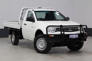 2013 Mitsubishi Triton MN MY13 GL White 5 Speed Manual Cab Chassis Bentley Canning Area Preview