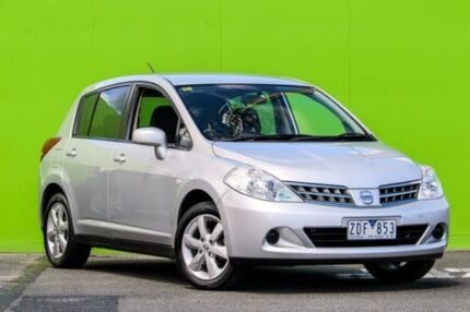 2012 Nissan Tiida C11 S3 ST Silver 4 Speed Automatic Hatchback Ringwood East Maroondah Area Preview