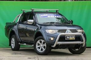 2010 Mitsubishi Triton MN MY10 GLX-R Double Cab Grey 5 Speed Sports Automatic Utility Ringwood East Maroondah Area Preview