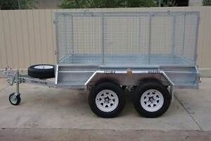 KESSNER TRAILERS INDEPENDENT SUSPENSION 8X5 TRAILER WITH CAGE Pooraka Salisbury Area Preview