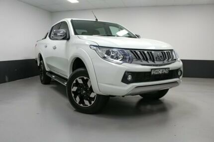 2016 Mitsubishi Triton MQ MY16 Exceed Double Cab White 5 Speed Sports Automatic Utility