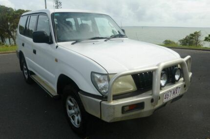 2000 Toyota Landcruiser Prado VZJ95R RV6 White 5 Speed Manual Wagon South Gladstone Gladstone City Preview